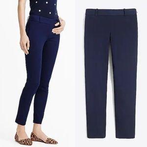 J Crew Sz 8 Navy blue Winnie pants stretch twill